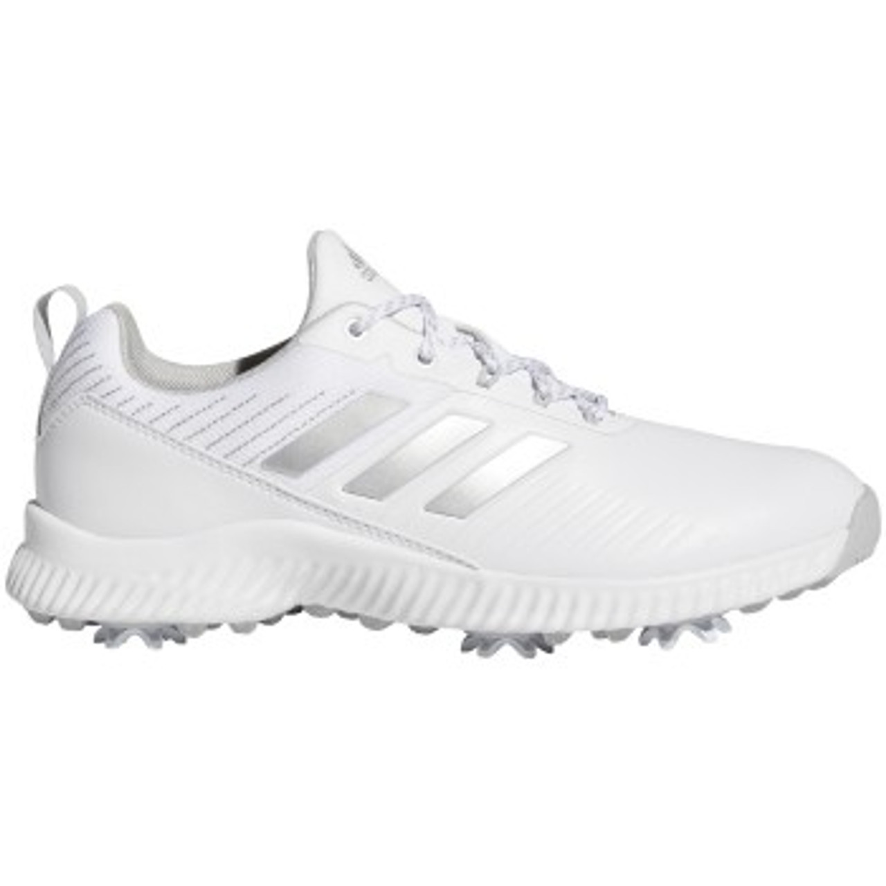 Adidas Womens Response Bounce 2.0 Golf Shoes - White / Silver Metal / Grey Two