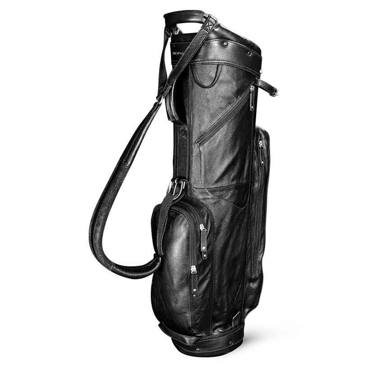 Sun Mountain Leather Cart Bag - Black