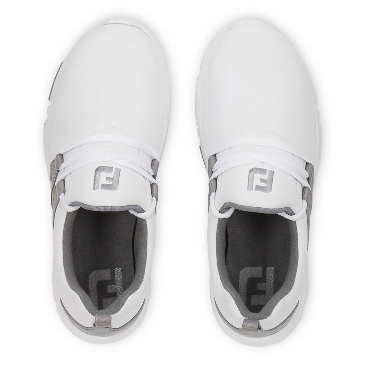 FootJoy FJ Leisure Girls Golf Shoes - White / Grey 948209)