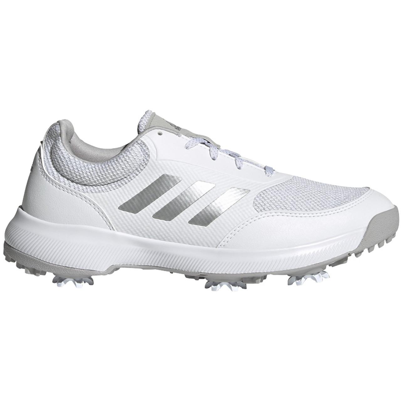 Adidas Womens Tech Response Golf Shoes- White / Silver / Grey Two