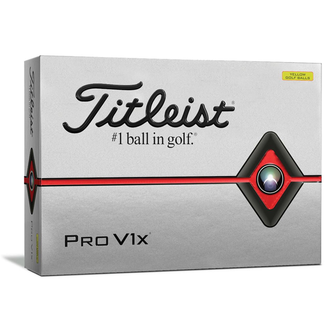 Titleist Personalized Pro V1x Yellow Dozen Golf Balls