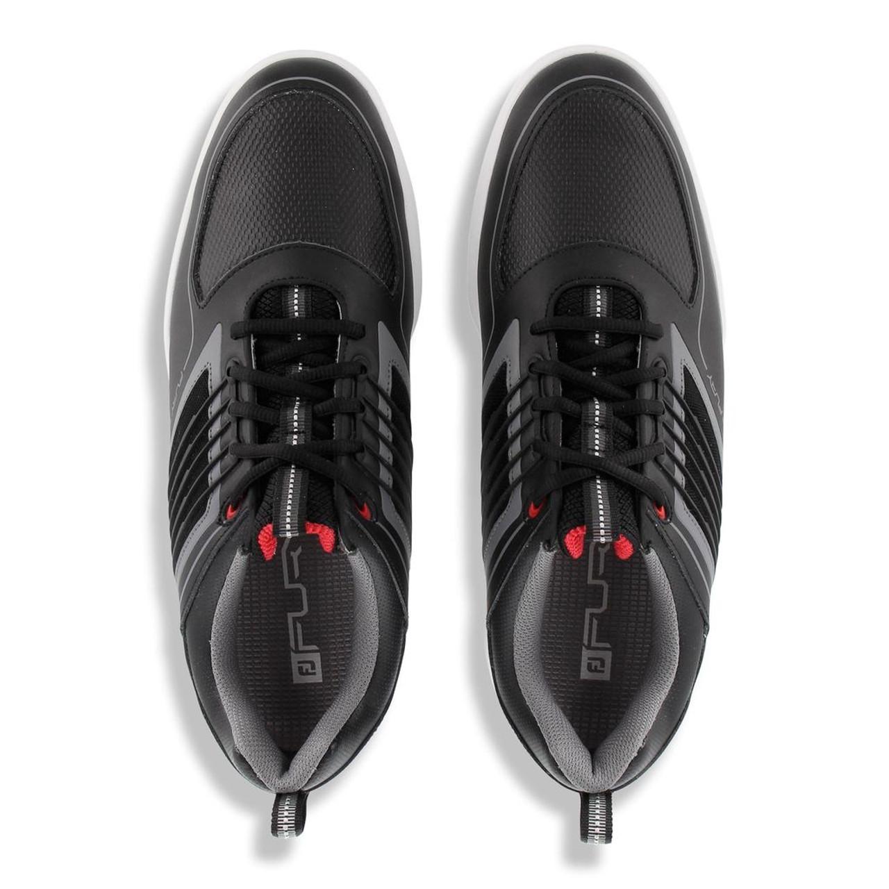 FootJoy FJ Fury Golf Shoes - Black / Red (51103)