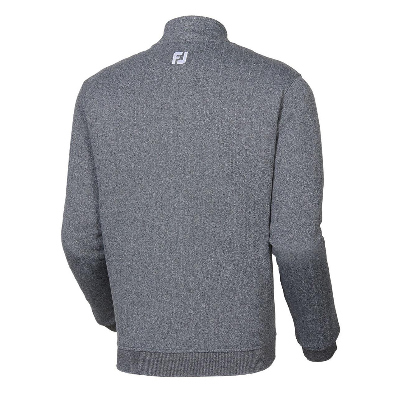 FootJoy Drop Needle Half-Zip Pullover - Heather Charcoal (25057)