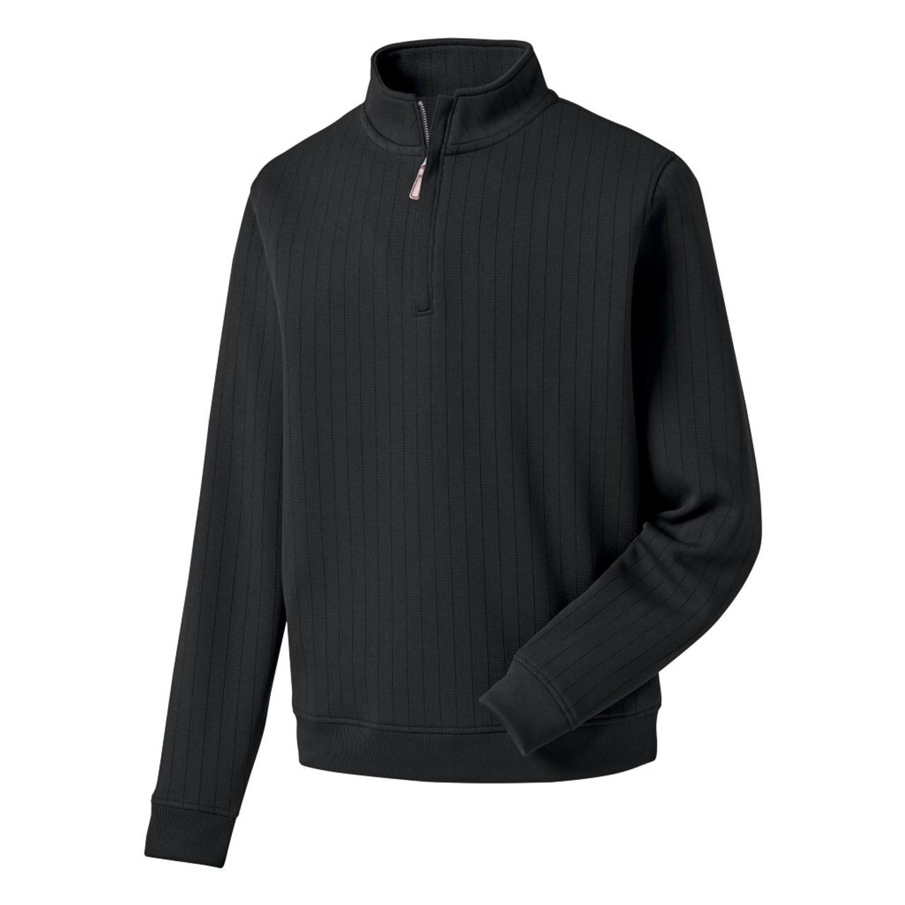 FootJoy Drop Needle Half-Zip Pullover - Black (27270)