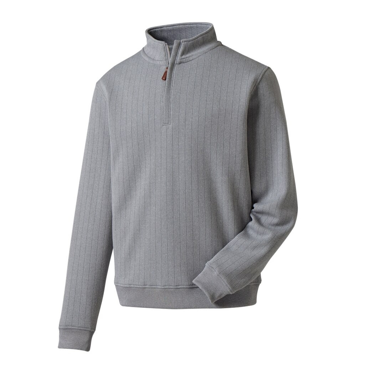 FootJoy Drop Needle Half-Zip Pullover - Heather Grey (27272)
