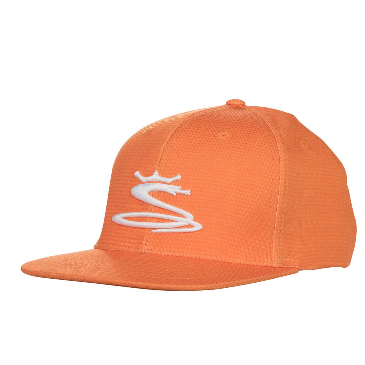 Cobra Tour Snake Snapback Caps - Vibrant Orange