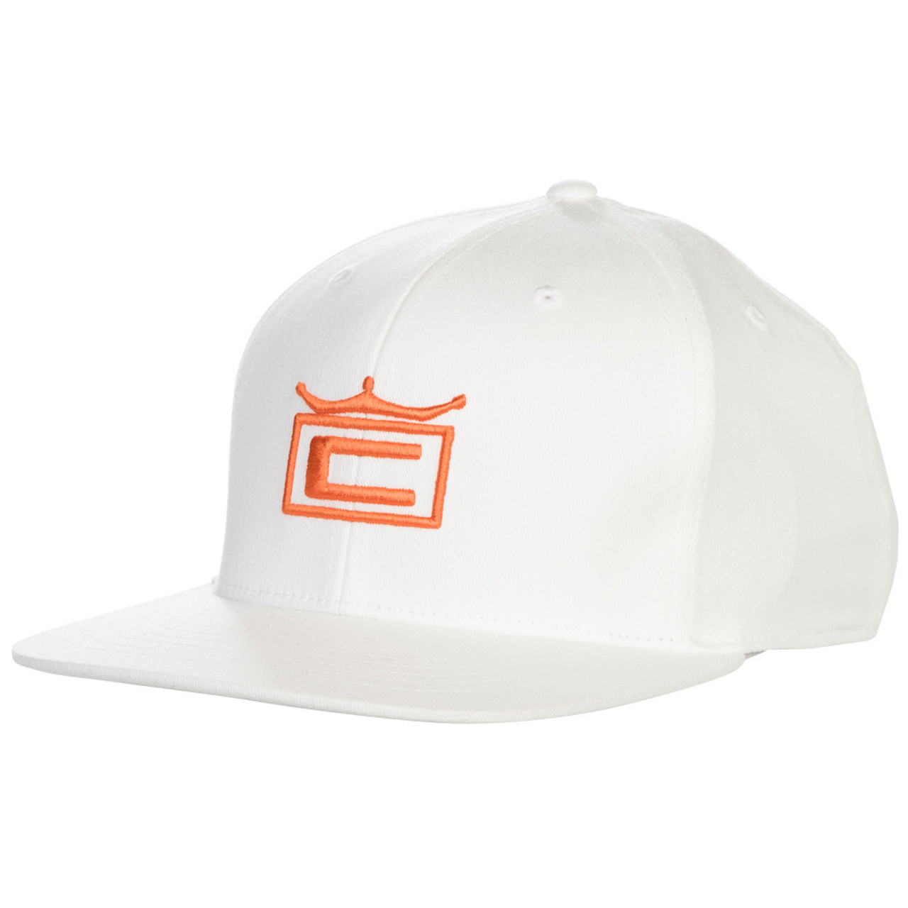 Cobra Tour Crown Snapback Cap - White / Vibrant Orange