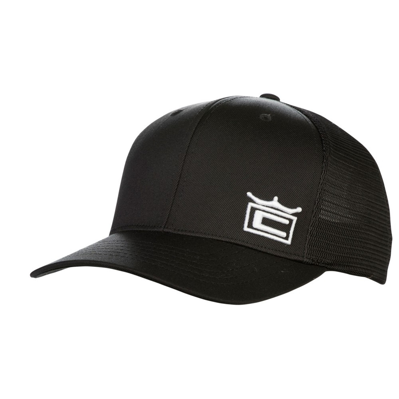 fc37534f9b099 Cobra Crown Trucker Snapback Cap - Black