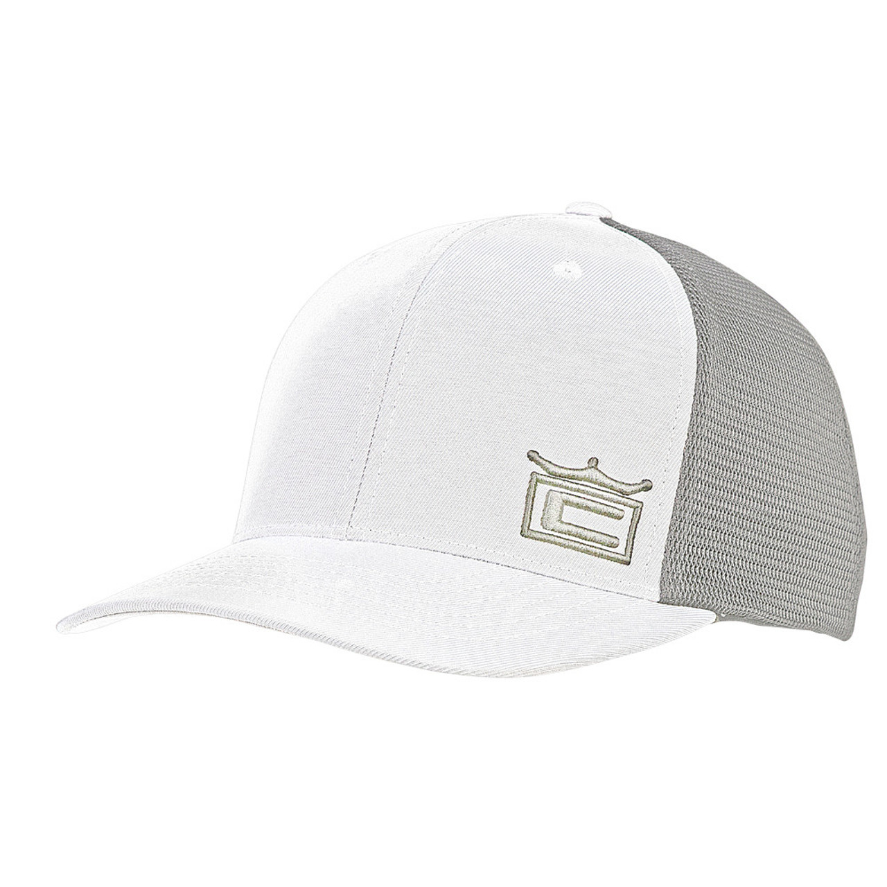 Cobra Crown Trucker Snapback Cap - White