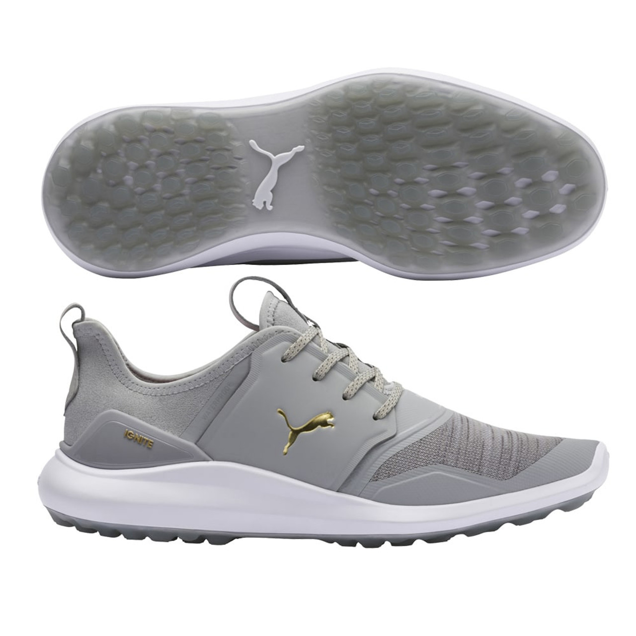 Puma IGNITE NXT Lace Golf Shoes - High Rise / Puma Team Gold / Puma White