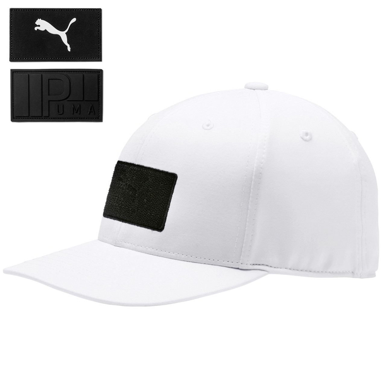 Puma Utility Patch 110 Snapback Cap - Bright White