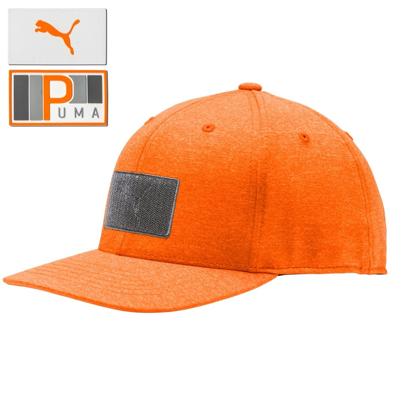 Puma Utility Patch 110 Snapback Cap - Vibrant Orange