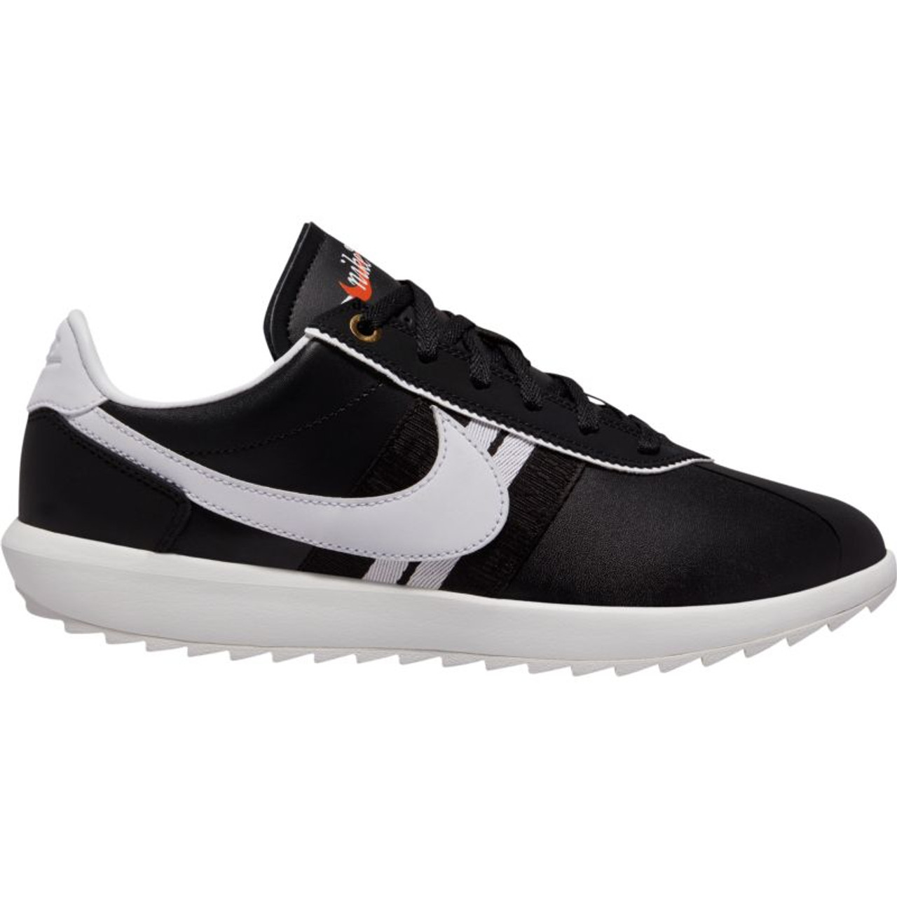 Nike Womens Cortez G Golf Shoes - Black / White / Metallic Gold