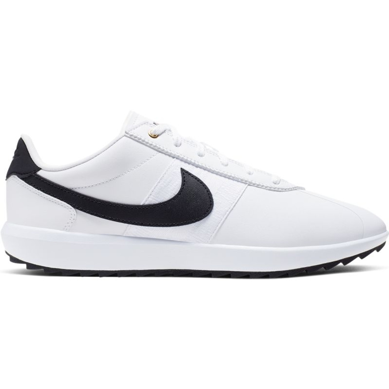 Nike Womens Cortez G Golf Shoes - White / Black / Metallic Gold