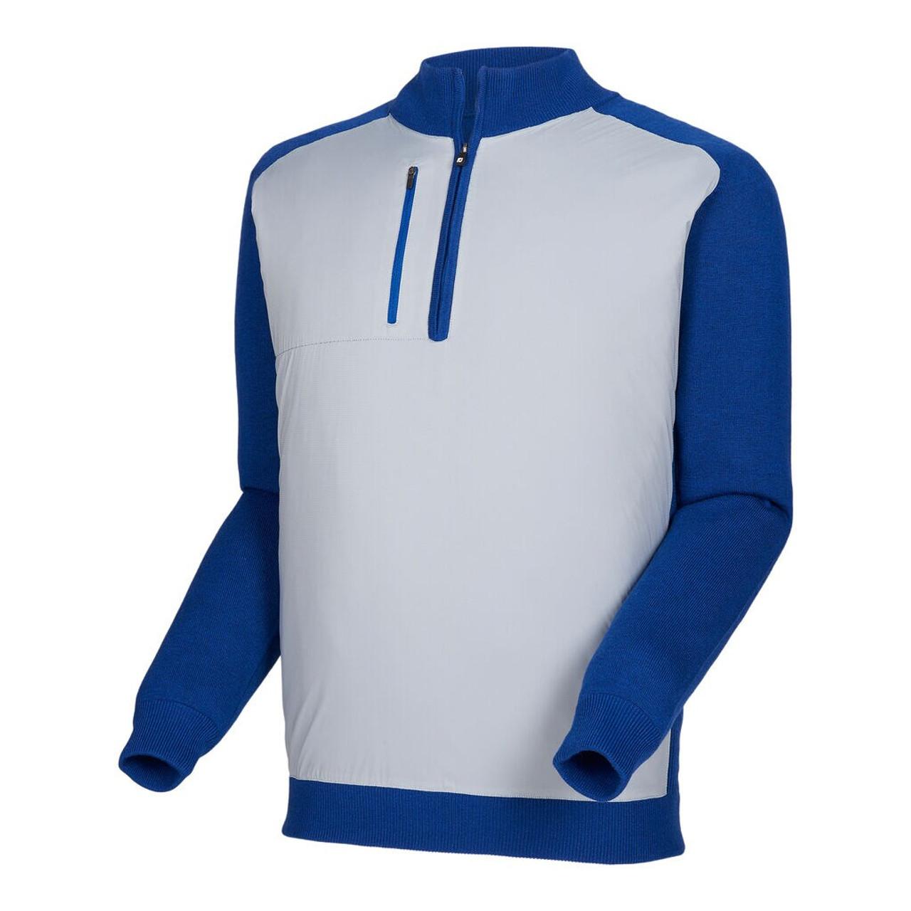 FootJoy Tech Sweater - Navy / Heather Grey (25071)