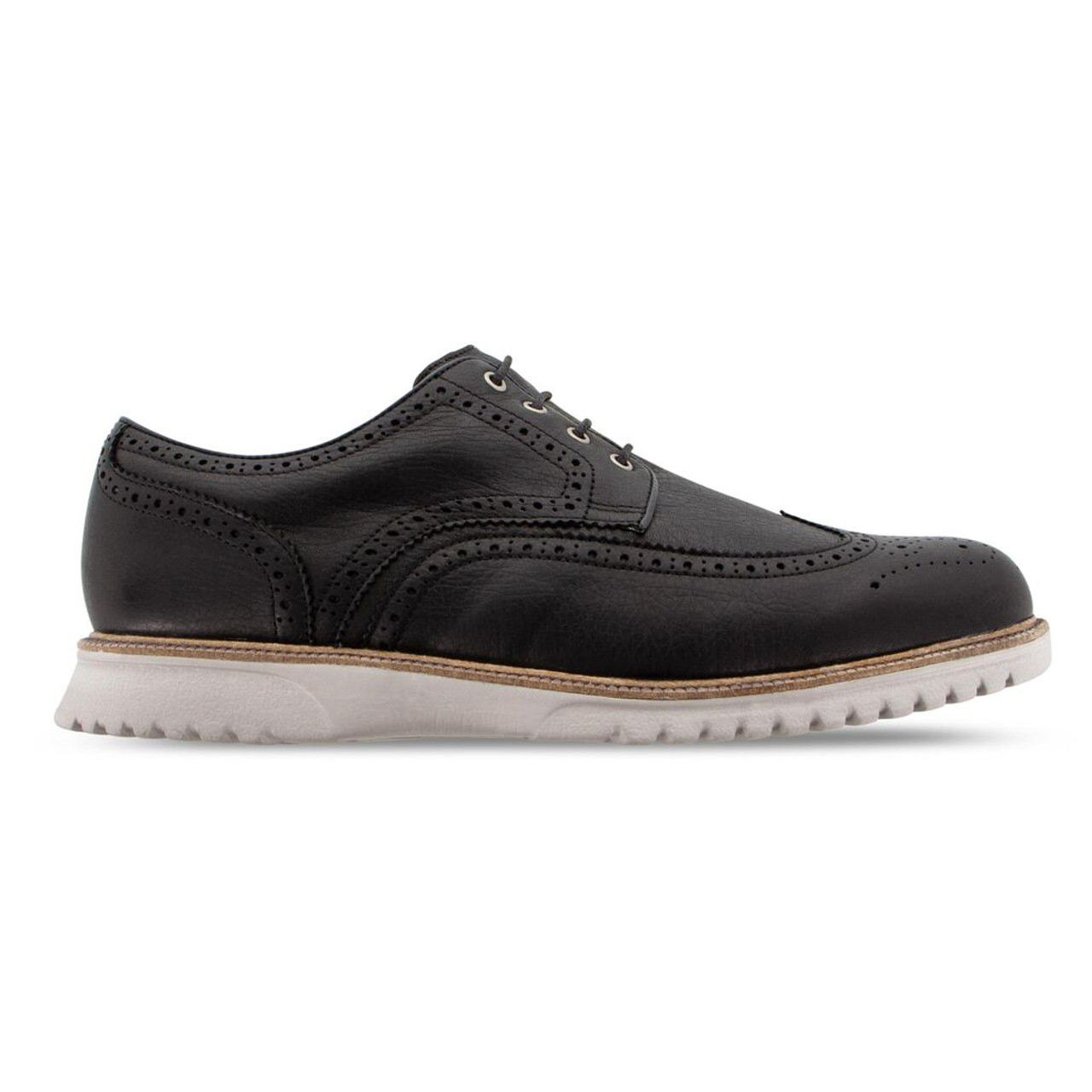 FootJoy Club Casuals Wing Tip Golf Shoes - Black (79059)