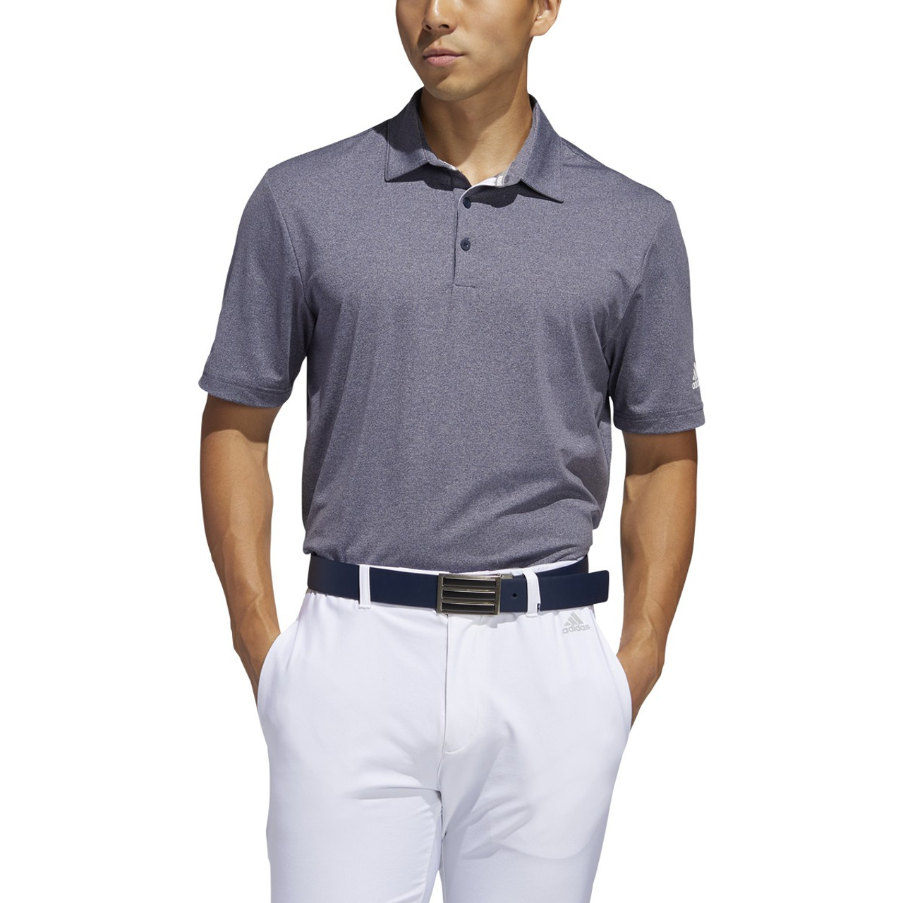 Adidas Ultimate 365 2.0 Heather Polo - Collegiate Navy
