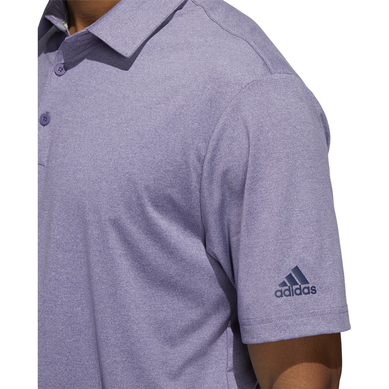 Adidas Ultimate 365 2.0 Heather Polo - Tech Purple