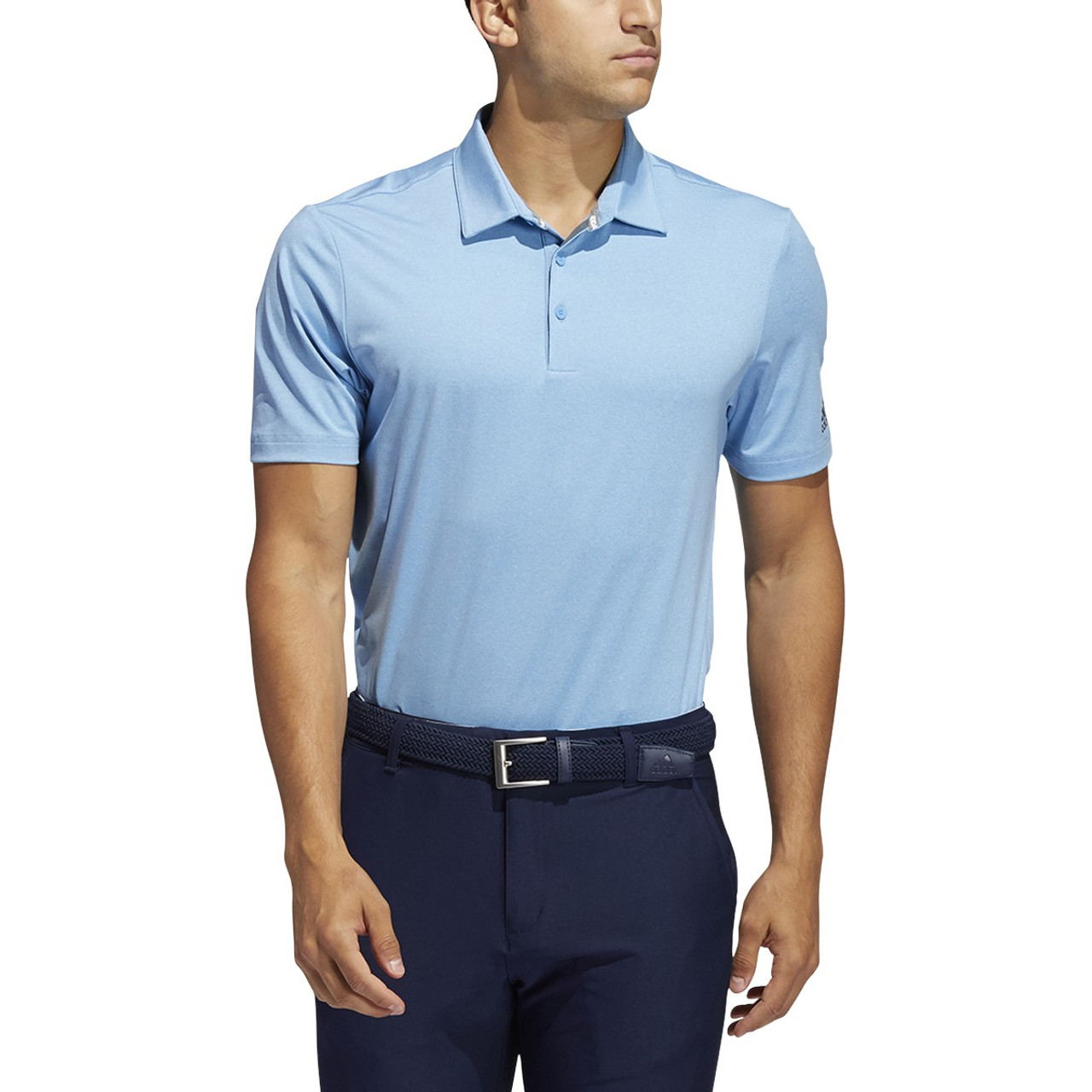 Adidas Ultimate 365 2.0 Heather Polo - Light Blue
