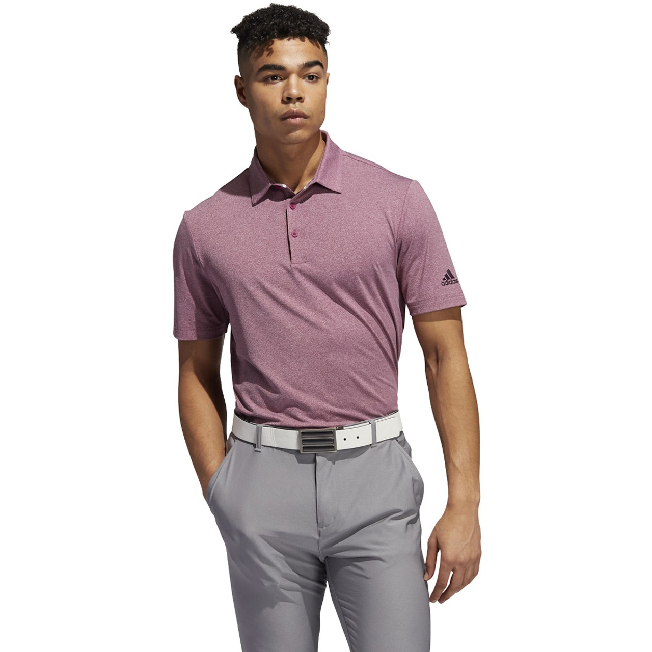 Adidas Ultimate 365 2.0 Heather Polo - Power Berry