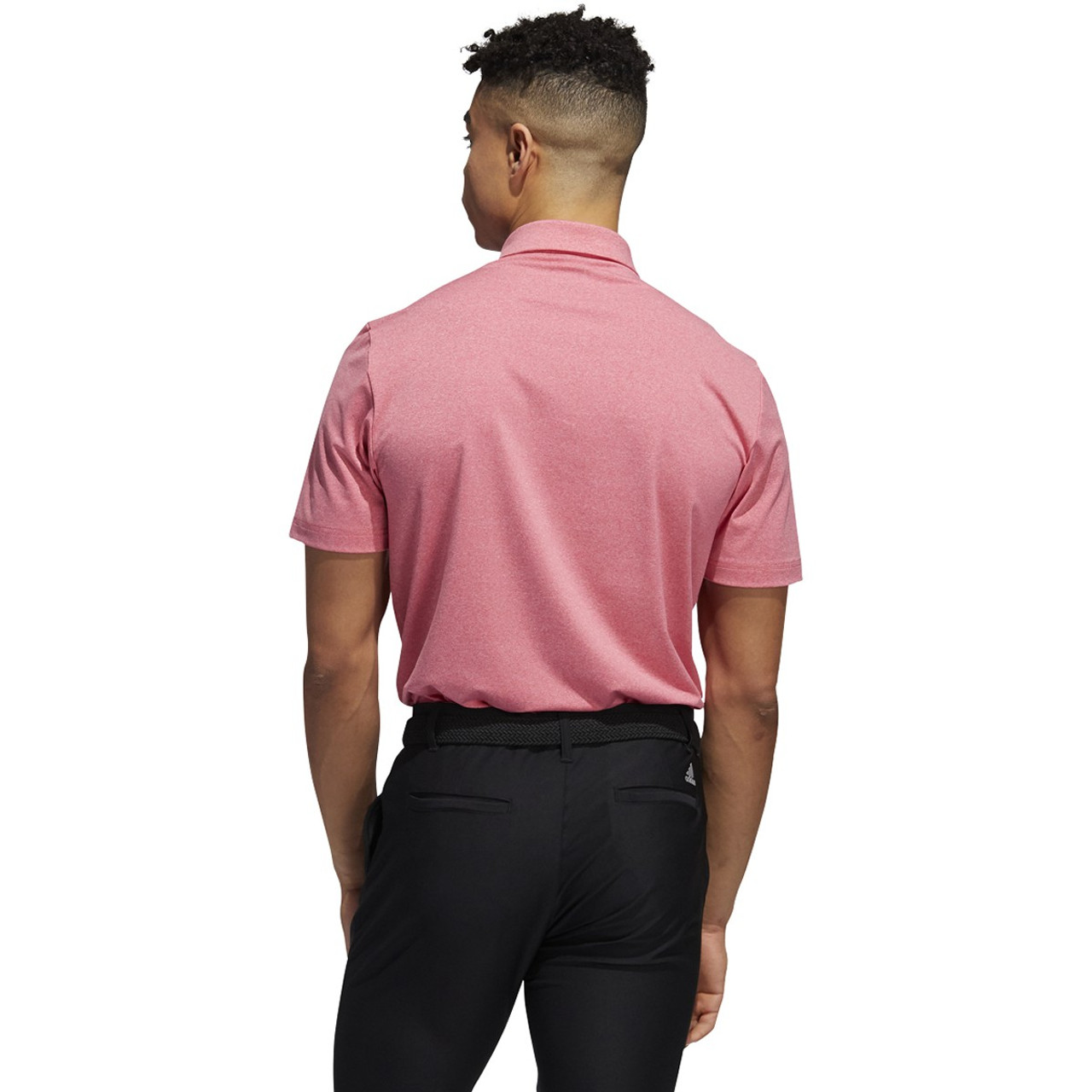 Adidas Ultimate 365 2.0 Heather Polo - Power Pink