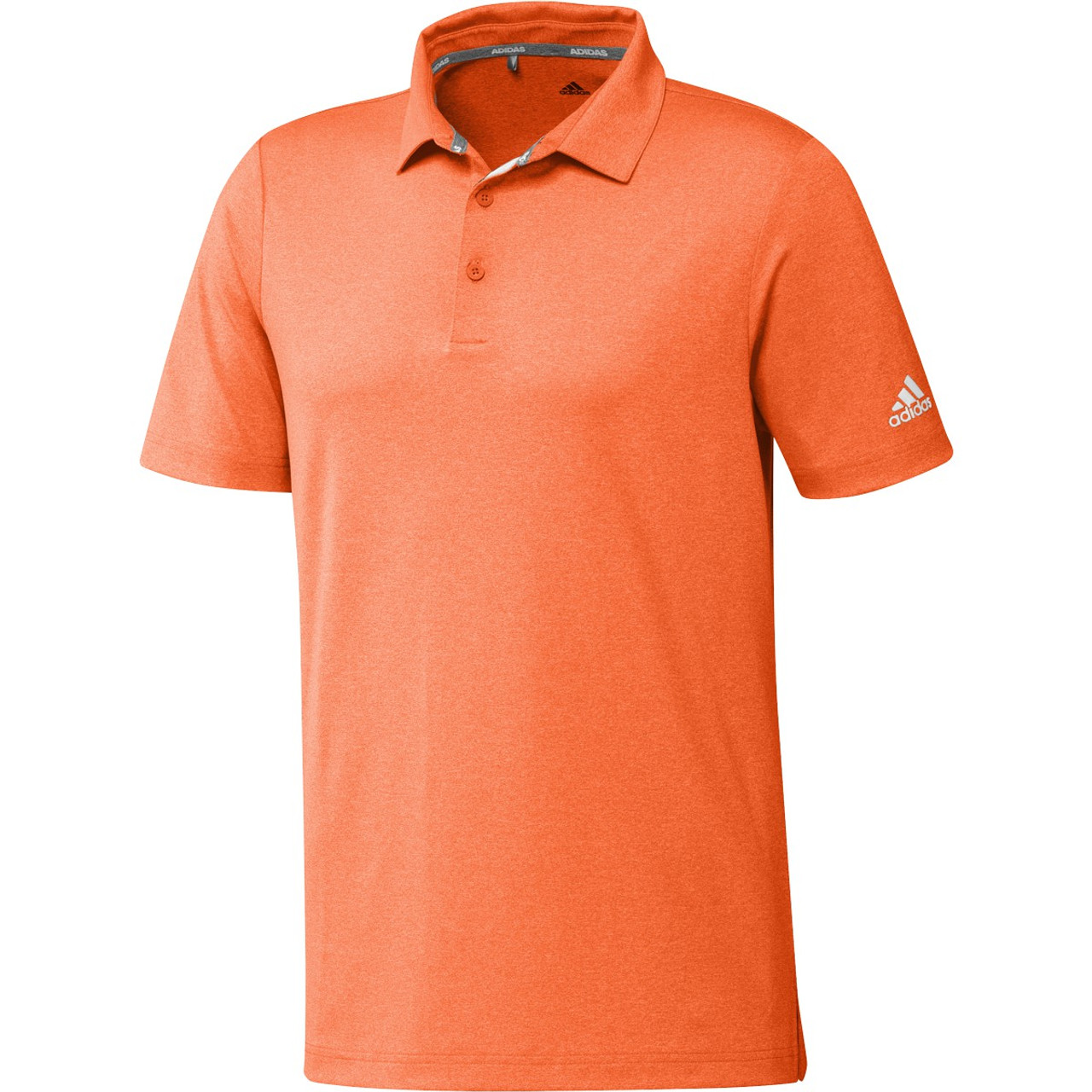 Adidas Ultimate 365 2.0 Heather Polo - Signal Orange