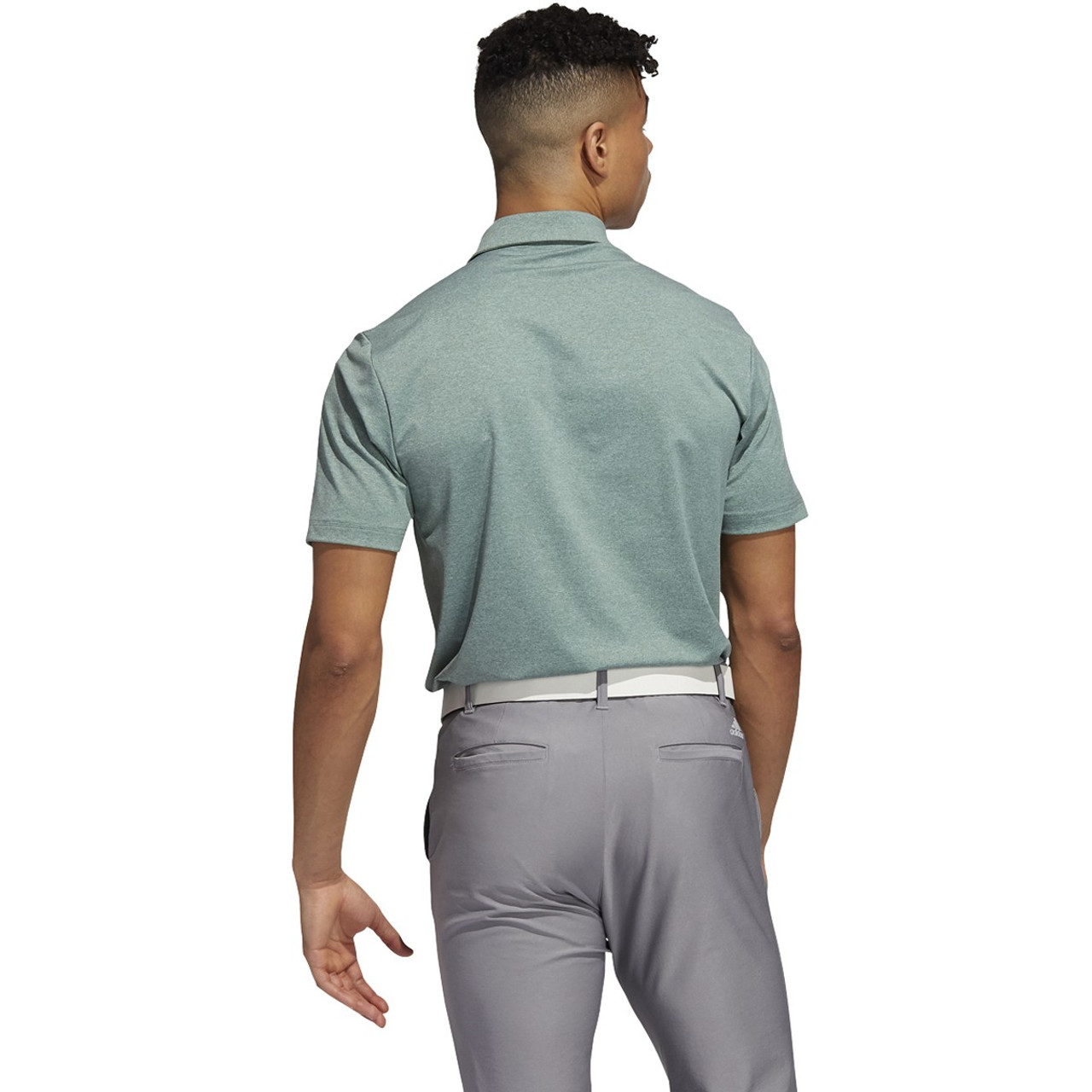 Adidas Ultimate 365 2.0 Heather Polo - Tech Emerald