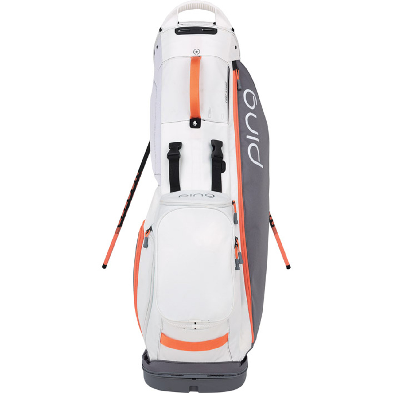 Ping Hoofer Lite Personalized Stand Bags - Grey / White / Coral