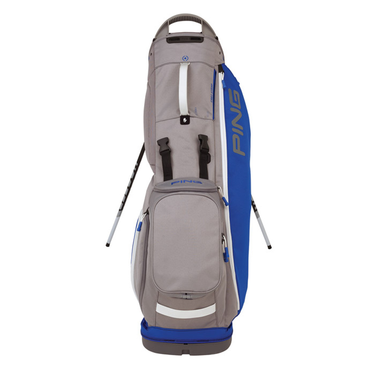 Ping Hoofer Lite Personalized Stand Bags - Royal / Silver / White