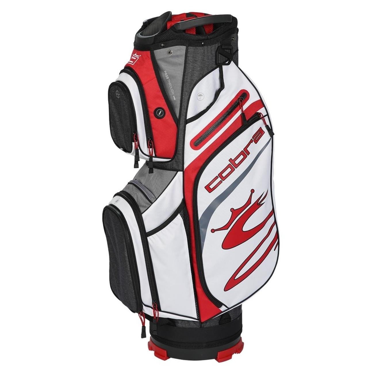 Cobra Ultralight Cart Bag - Black / High Risk Red / White