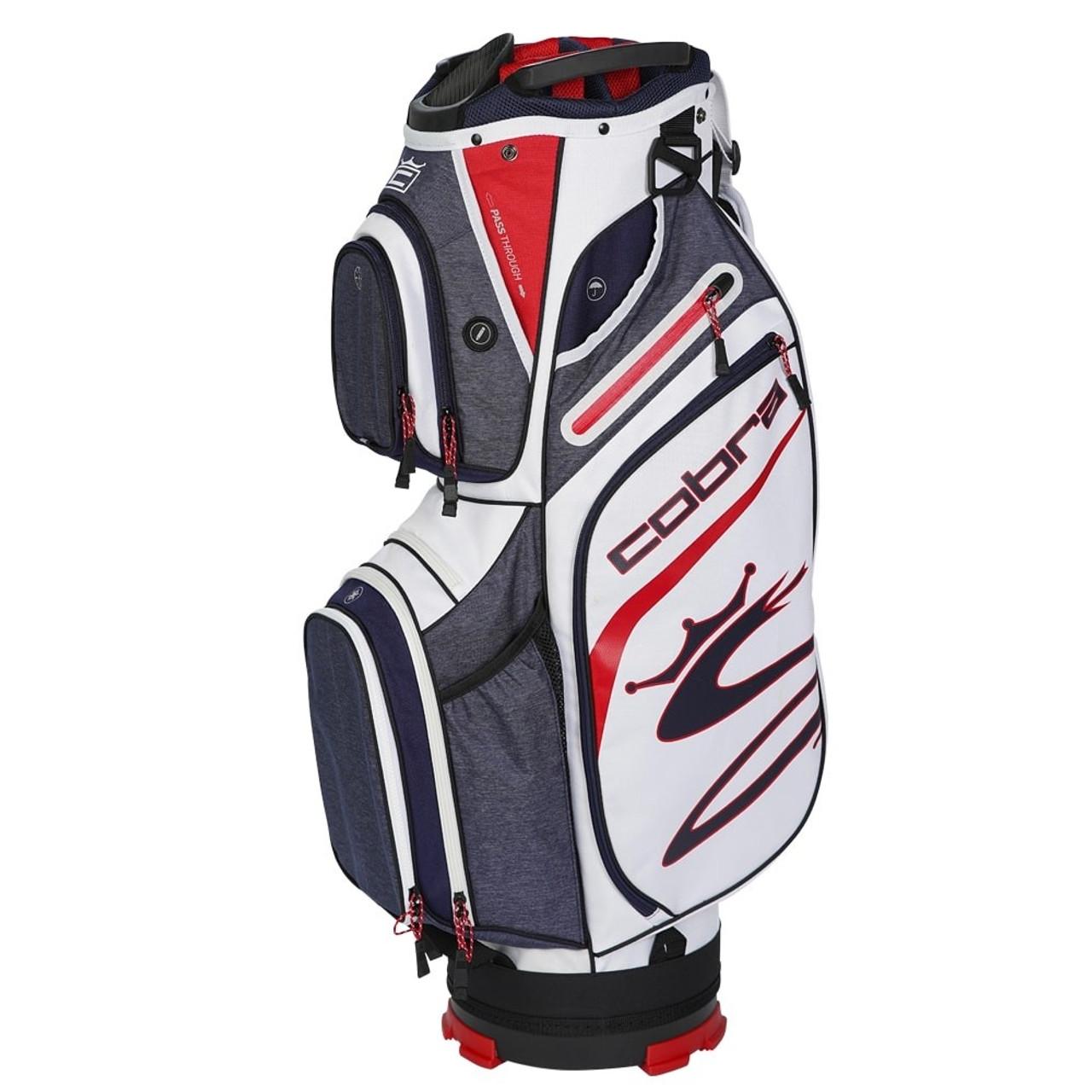 Cobra Ultralight Cart Bag - Peacoat / High Risk Red