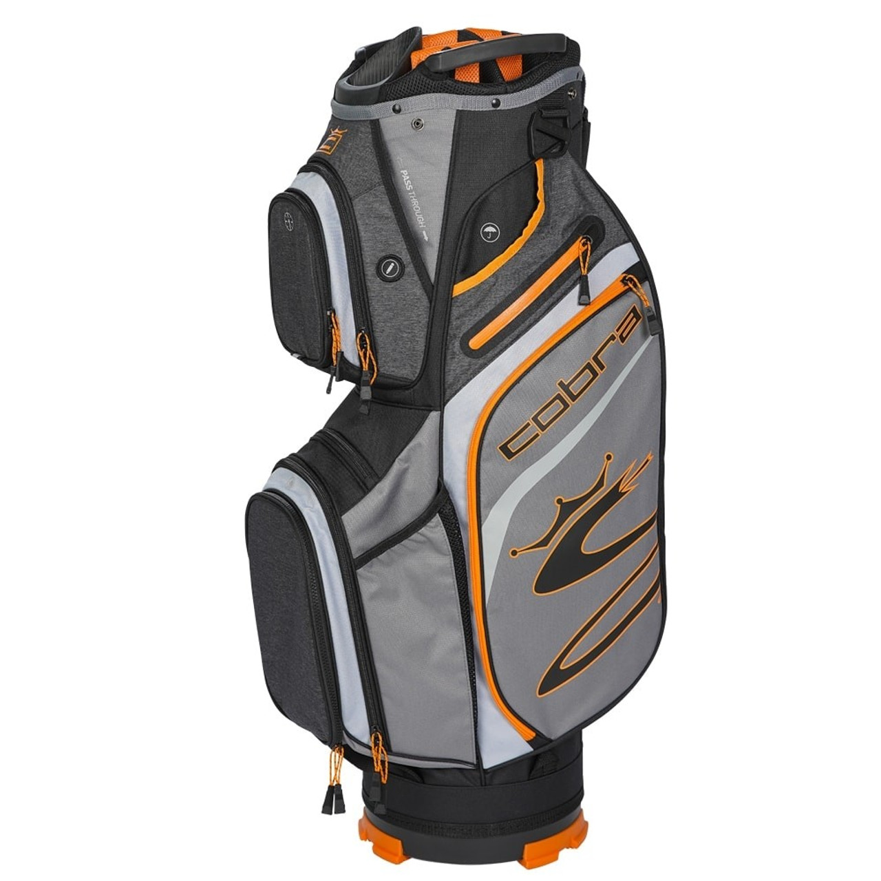 Cobra Ultralight Cart Bag - Quiet Shade / Vibrant Orange