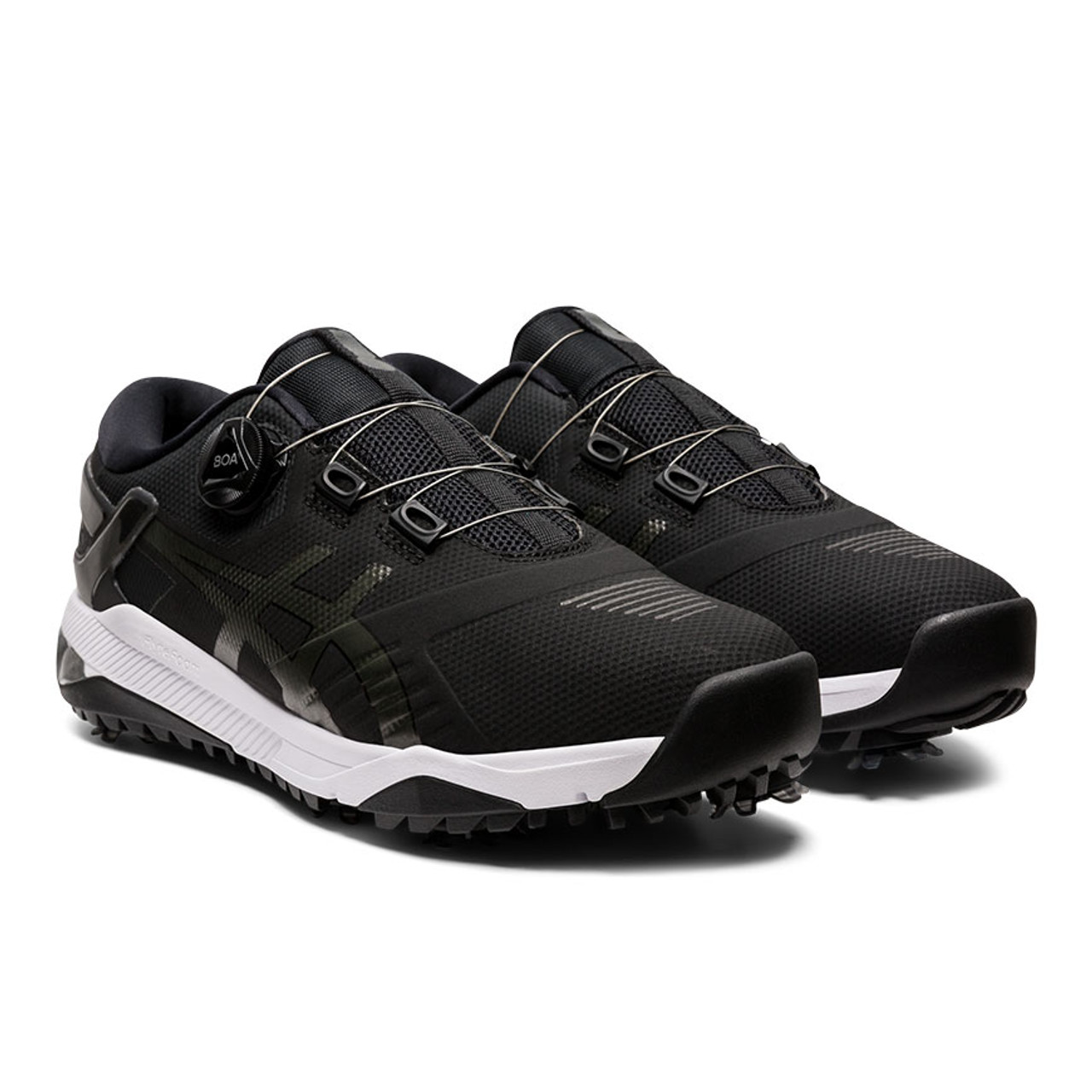 Asics Gel-Course Duo Boa Golf Shoes - Black / Gray / White