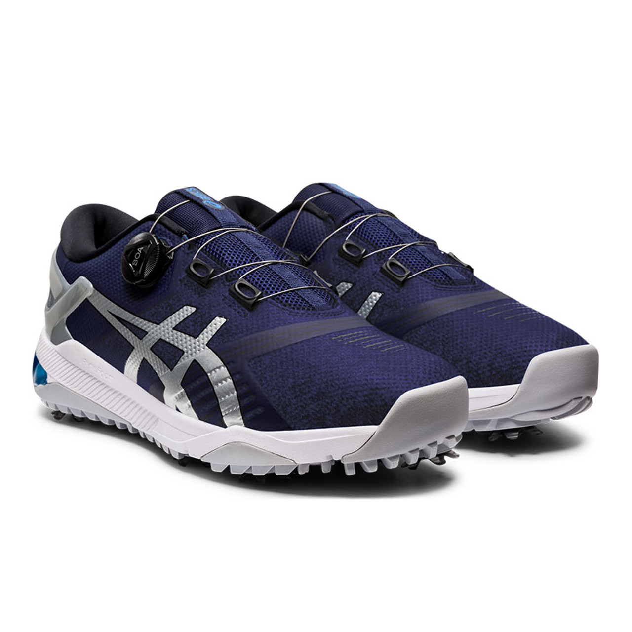 Asics Gel-Course Duo Boa Golf Shoes - Navy / White / Silver