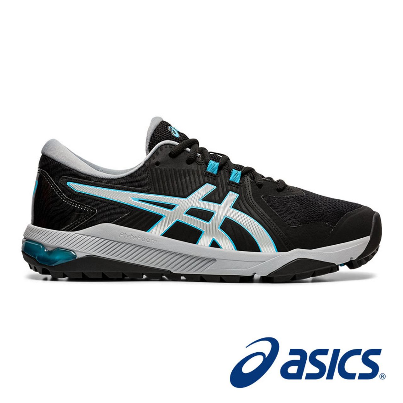 Asics Gel-Course Glide Golf Shoes - Black / Blue / Silver