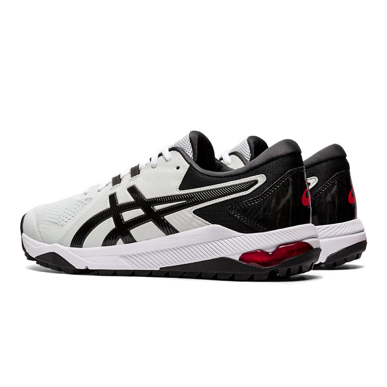 Asics Gel-Course Glide Golf Shoes - Gray / Black / Red
