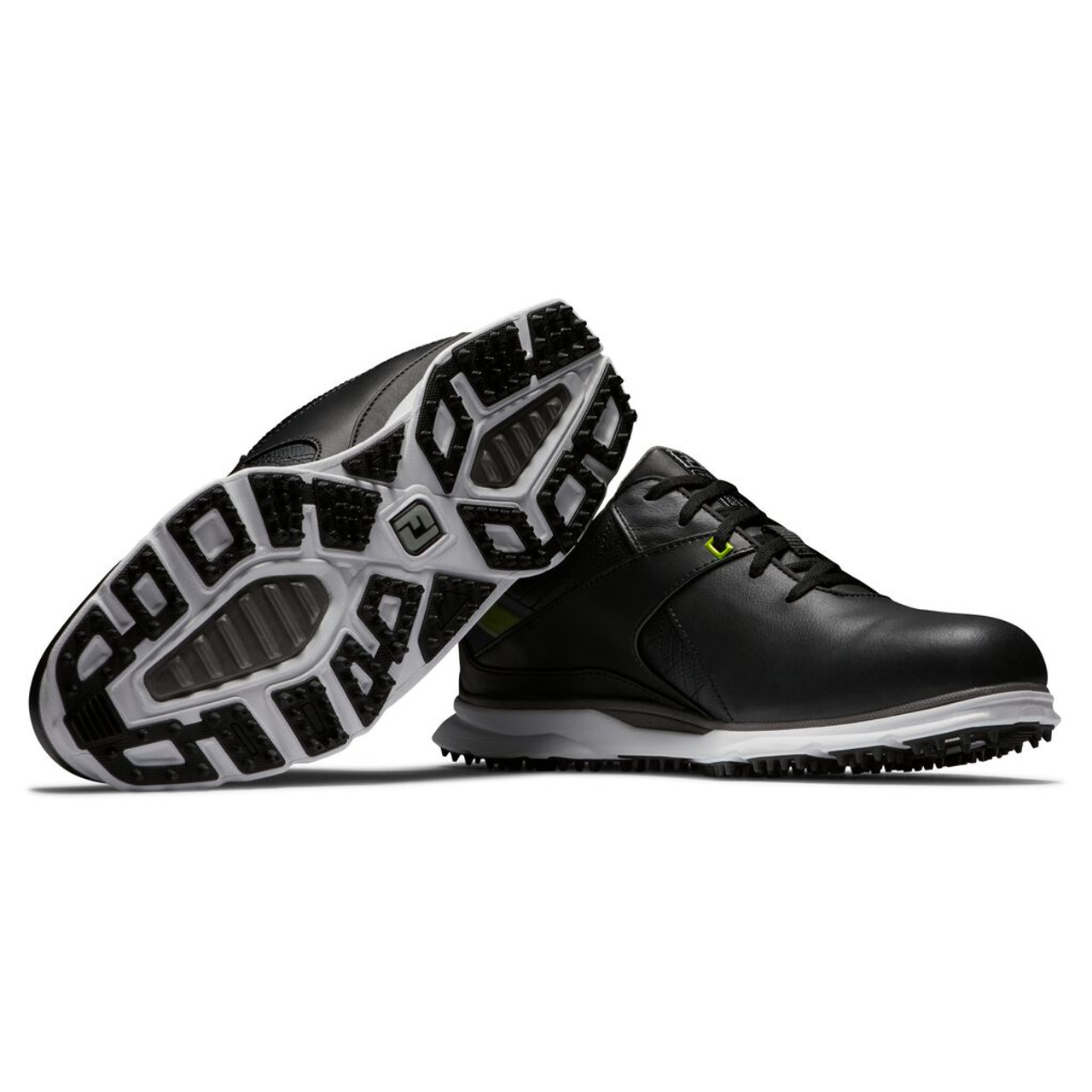 FootJoy Pro SL Golf Shoes - Black / Lime (53813)