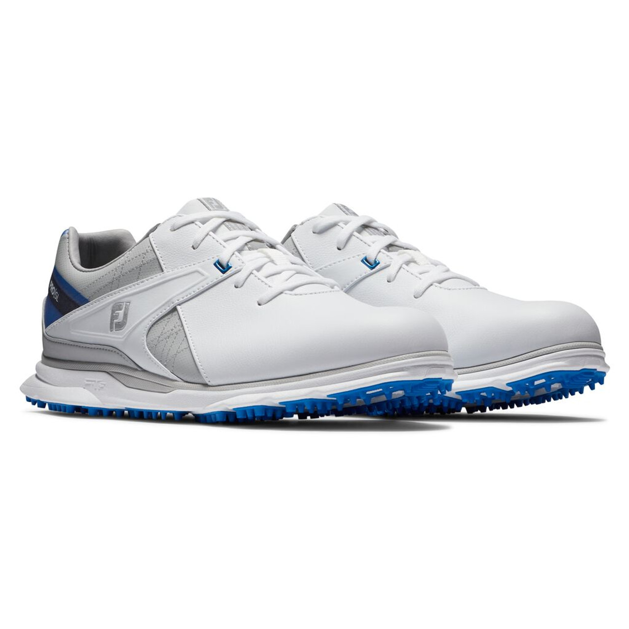 FootJoy Pro SL Golf Shoes - White / Blue / Grey (53811)