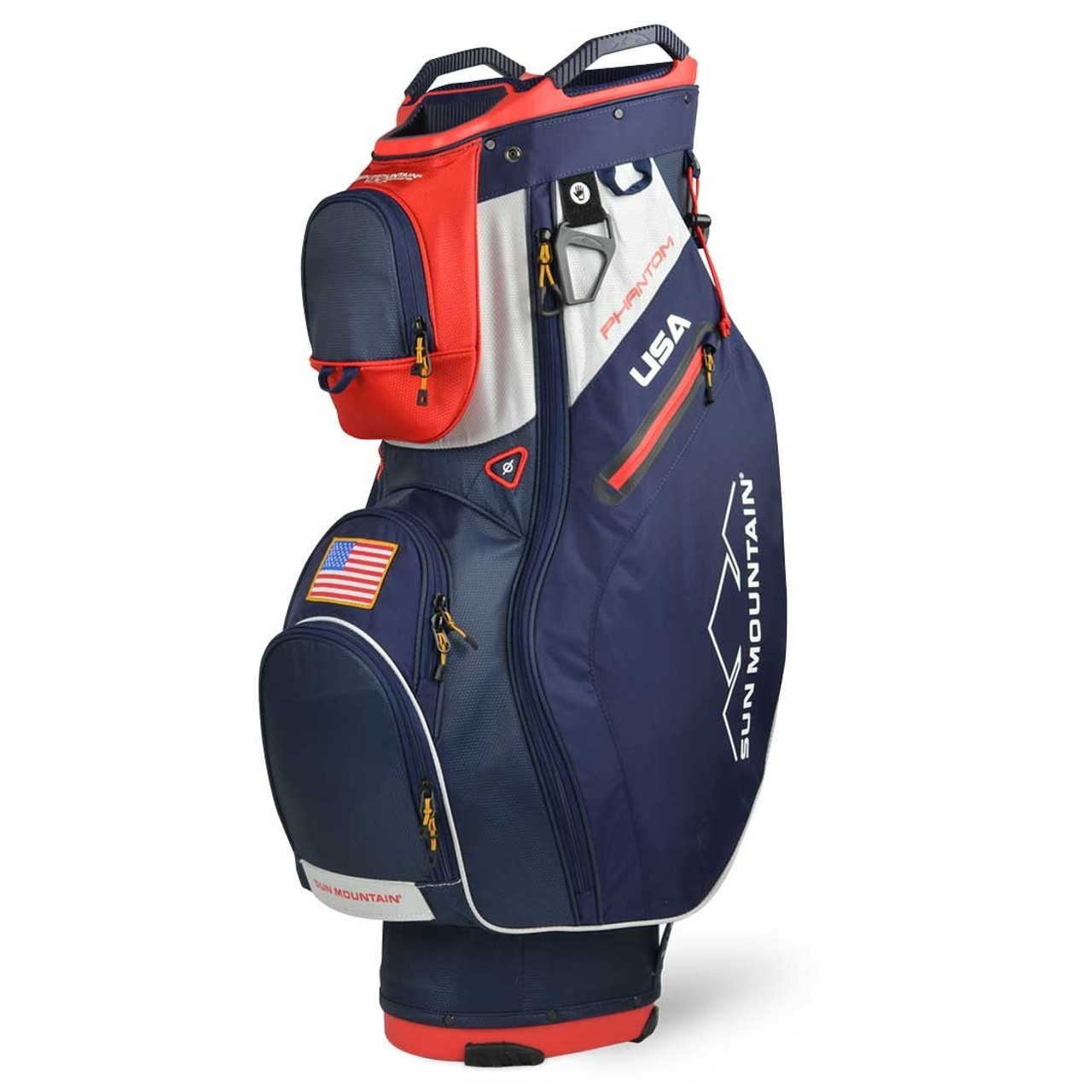 Sun Mountain Phantom Cart Bag - Navy / Red / White