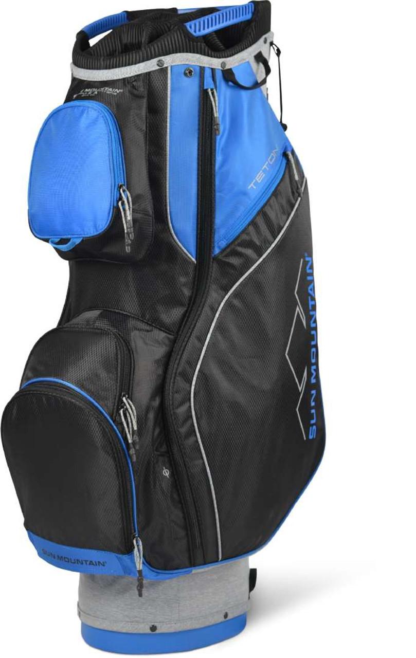 Sun Mountain Teton Cart Bag - Charcoal / Black / Cobalt