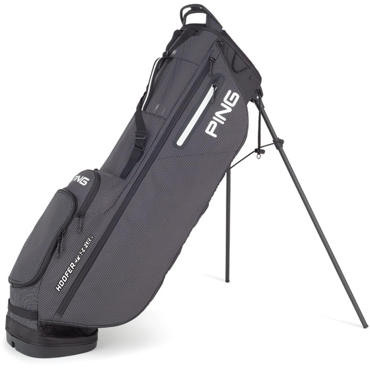 PING Hoofer Craz-E Lite Stand Bag - Black / White