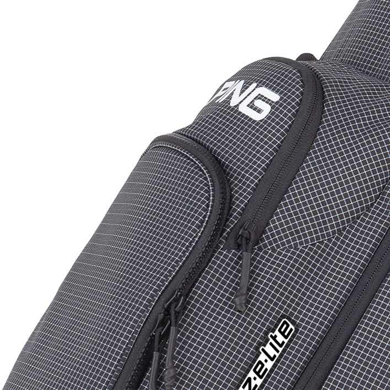 PING Hoofer Craz-E Lite Personalized Stand Bags - Black / White