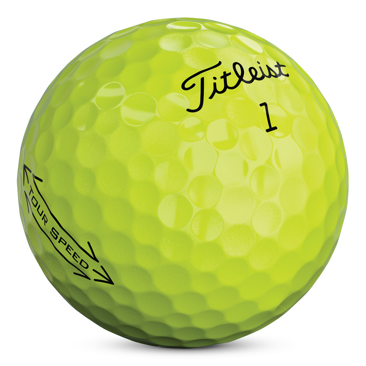 Titleist Tour Speed Personalized Dozen Golf Balls - Yellow