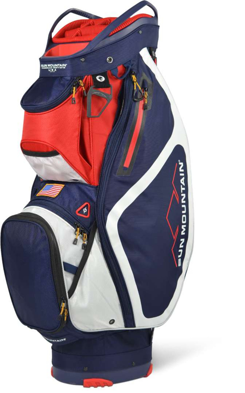 Sun Mountain Maverick Cart Bag - Navy / White / Red