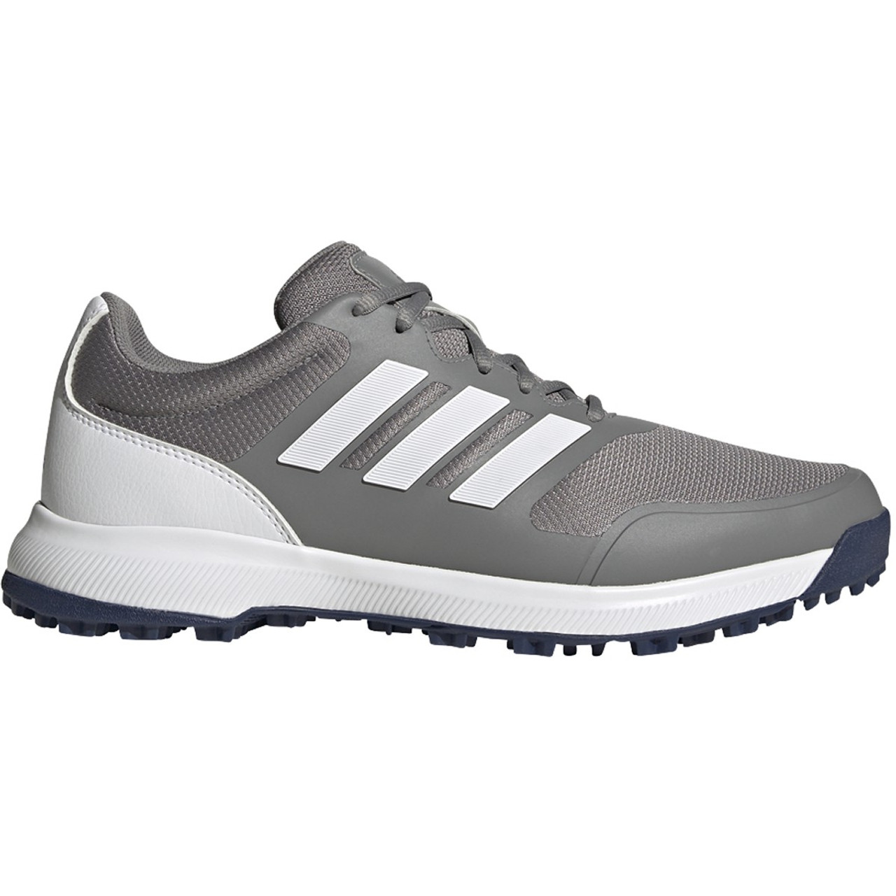 Adidas Tech Response Spikeless Golf Shoes - Grey Three / White