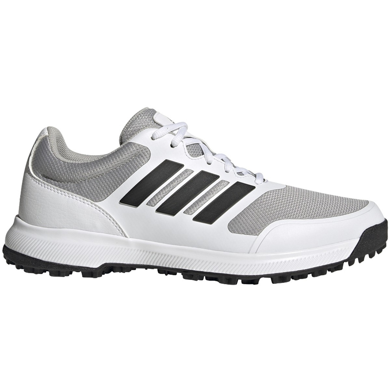 Adidas Tech Response Spikeless Golf Shoes - White / Black / Grey Two