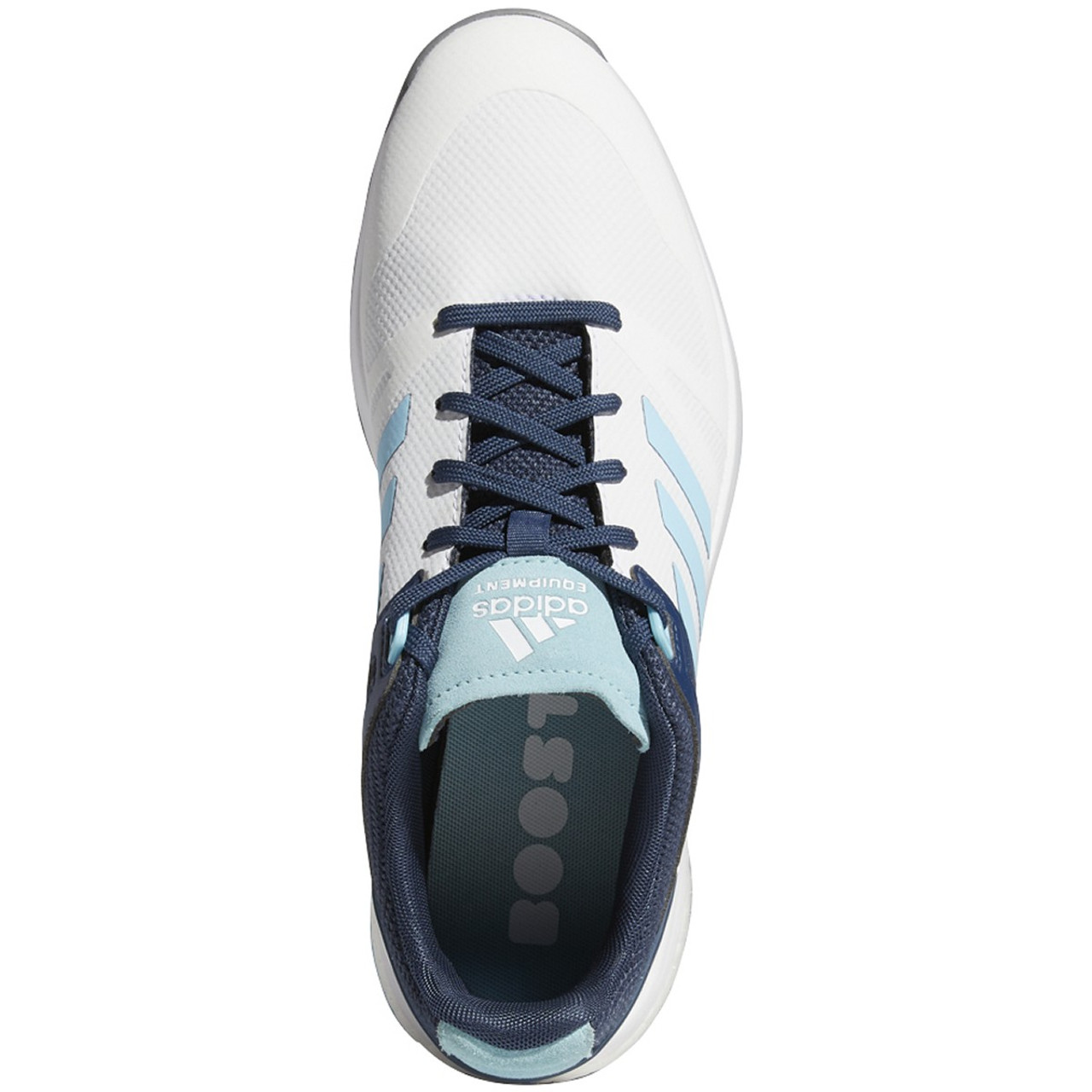 Adidas Womens EQT Spikeless Golf Shoes - White / Hazy Sky / Crew Navy