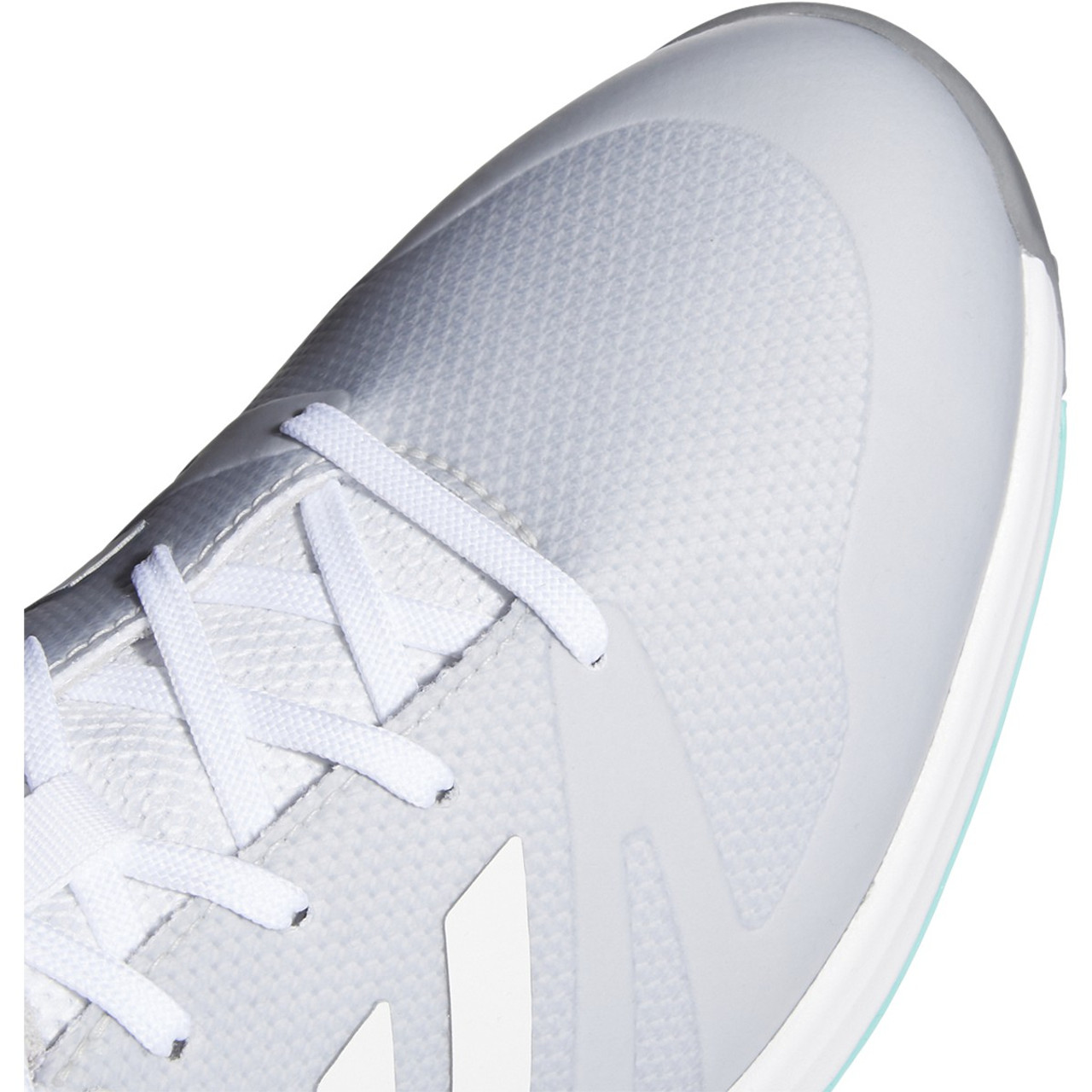 Adidas Womens EQT Spikeless Golf Shoes - White / White / Acid Mint