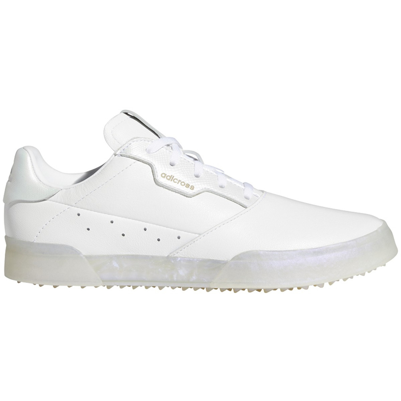 Adidas Womens Adicross Retro Golf Shoes - White / White / Clear Mint