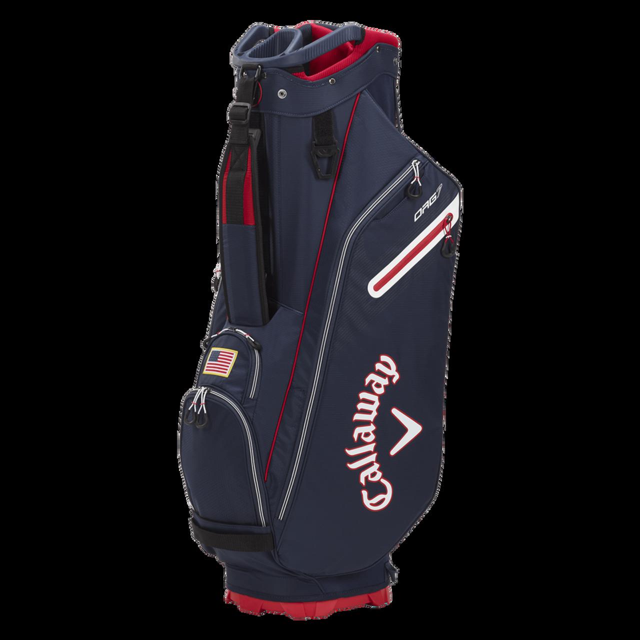 Callaway Org 7 Cart Bag 2021 - Navy / Red / White Flag